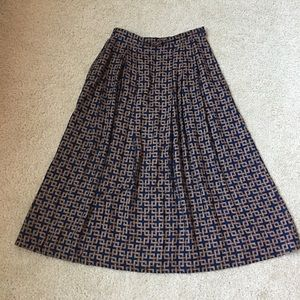 Vintage Pendleton Petite midi maxi skirt 8